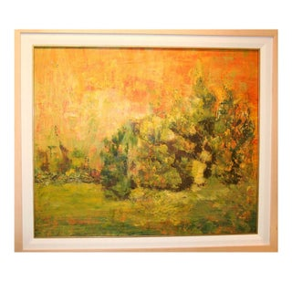 Abstract Yellow Landscape Painting