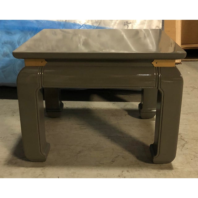 Gray Lacquered Ming Side Tables - A Pair For Sale - Image 5 of 5