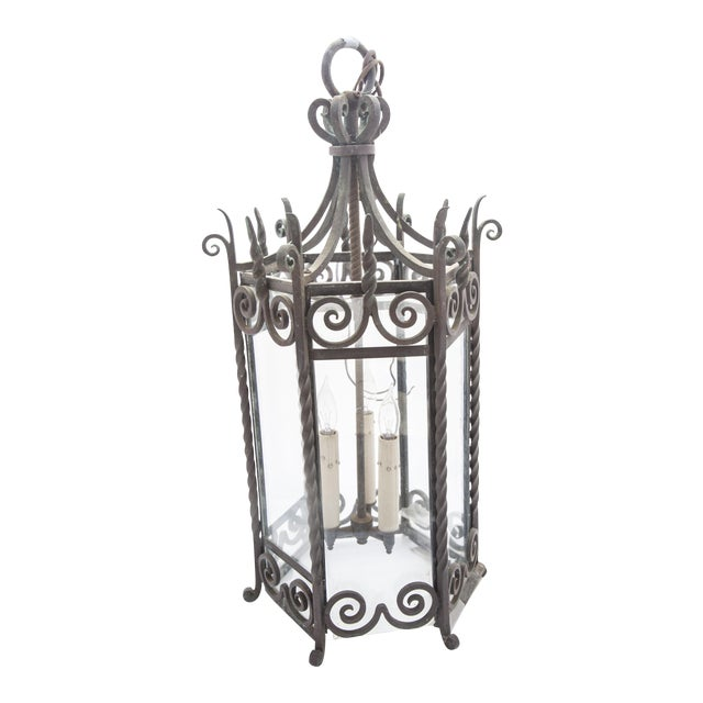 Six-Sided Iron Lantern - Image 1 of 9