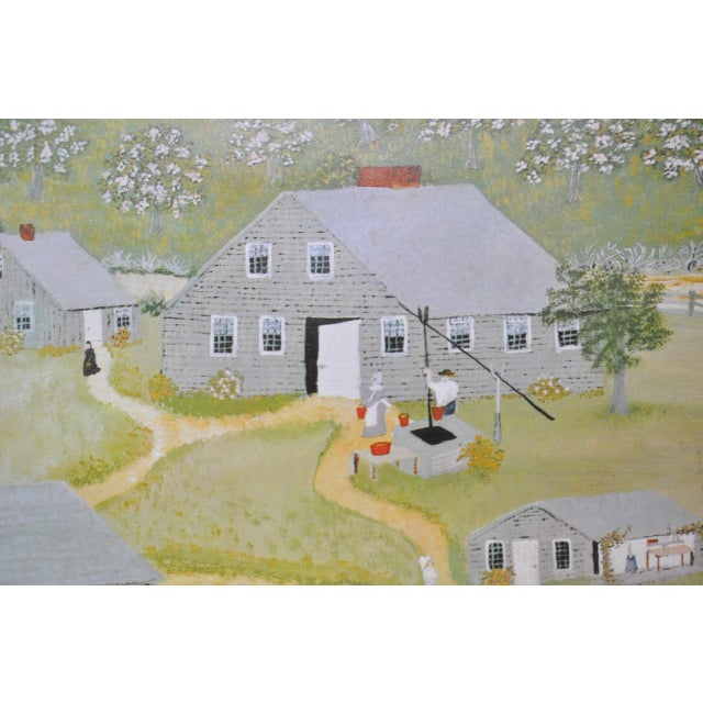 """White Vintage """"Grandma Moses"""" Exhibition Poster National Gallery of Art, Washington, DC 1979 For Sale - Image 8 of 8"""
