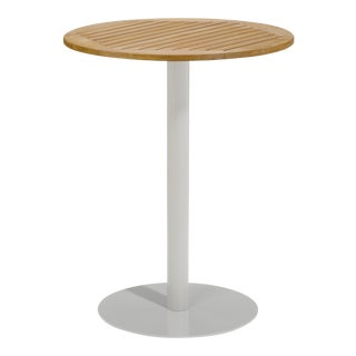 "32"" Round Outdoor Bar Table, Natural For Sale"