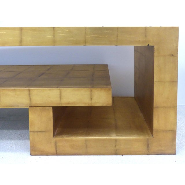 James Mont Style Gold Leaf Console For Sale In Miami - Image 6 of 9