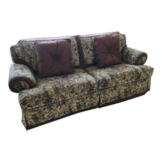 Henredon Down Filled Chenille Sofa For Sale