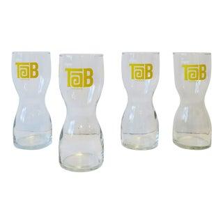 '70s Modern Tab Diet Cola Highball Glasses Barware, Set of 4 For Sale