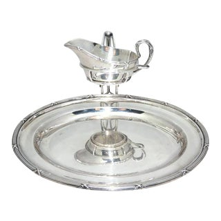 Mappin & Webb Serving Platter With Attached Gravy/Sauce Jug