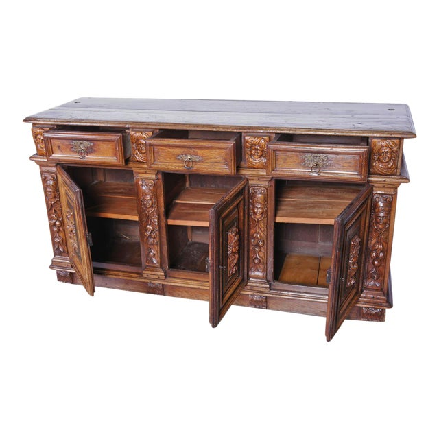 Rare Period Louis XIII Buffet, Circa 1630 For Sale - Image 4 of 11