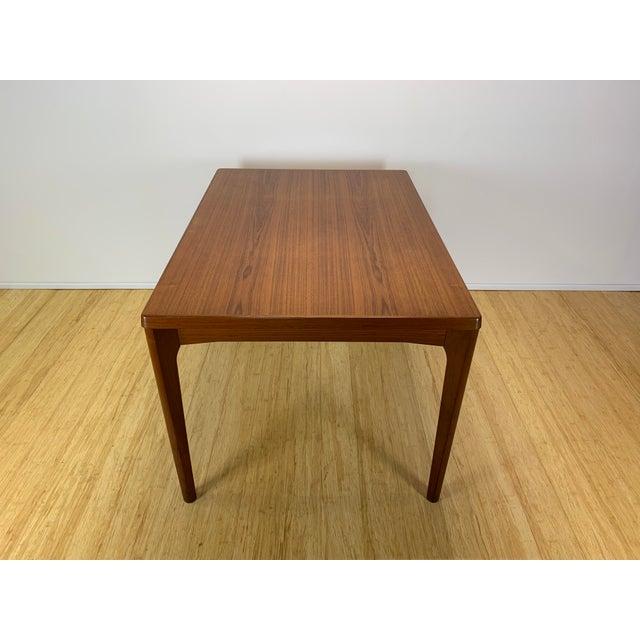 Orange 1960s Danish Modern Henning Kaerjnulf for Vejle Stole + Møbelfabrik Teak Dining Table For Sale - Image 8 of 11
