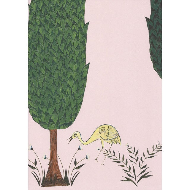 Tranquility Wallpaper in Blossom Pink, 6 Rolls For Sale - Image 4 of 4