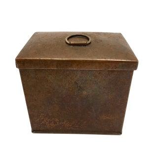 1940s Vintage Copper Cigarette Box For Sale