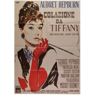 """Breakfast at Tiffanys"" Italian Movie Poster For Sale"