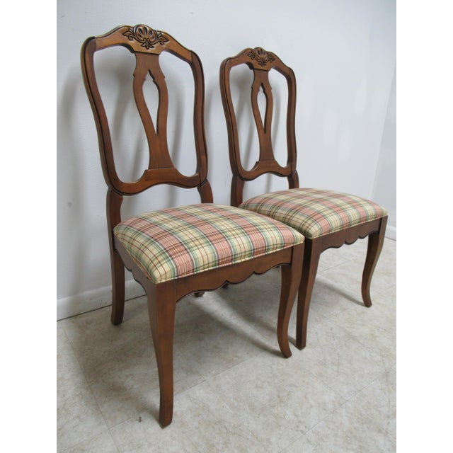 Country Modern Ethan Allen Country French Dining Room Side Chairs- A Pair For Sale - Image 3 of 13