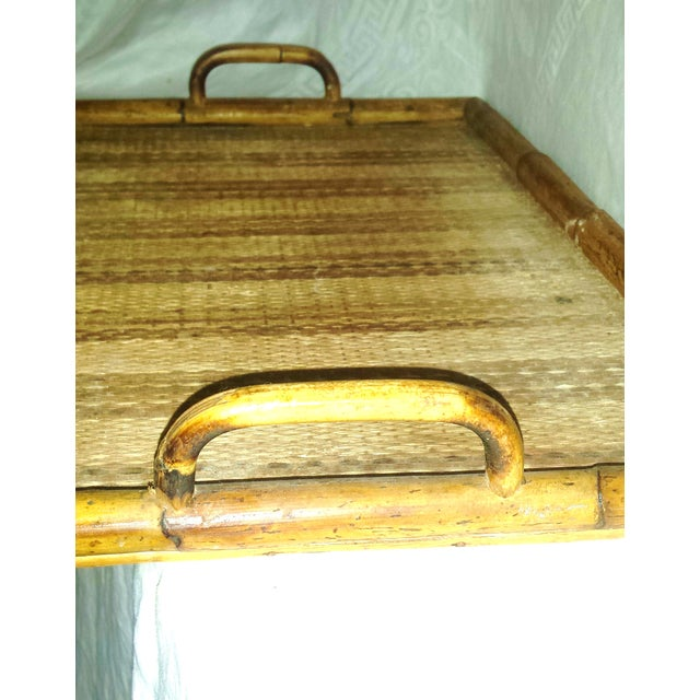 Vintage Bamboo Serving Tray For Sale In Sacramento - Image 6 of 8