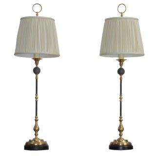 Lamps Italian Spanish and Hollywood Regency Style with Shades - a Pair For Sale