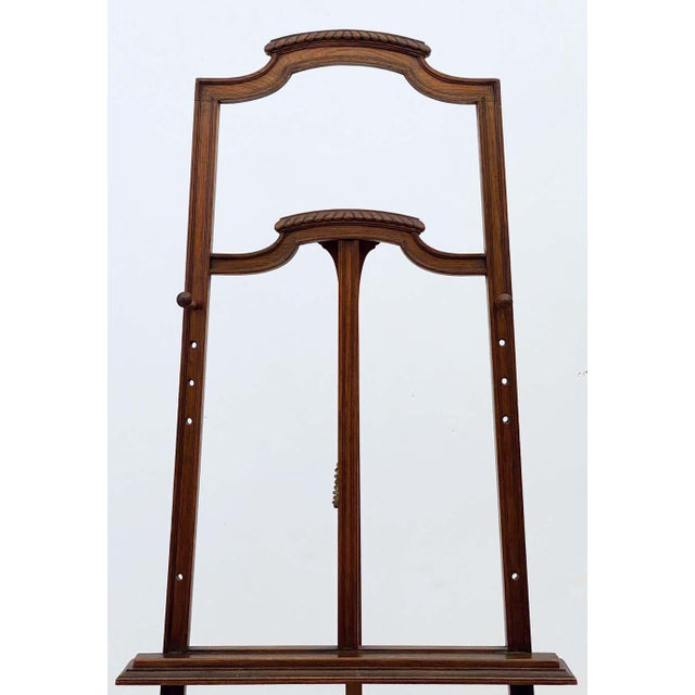 Early 20th Century English Artist's or Display Easel With Carved Wood Accents For Sale - Image 5 of 13