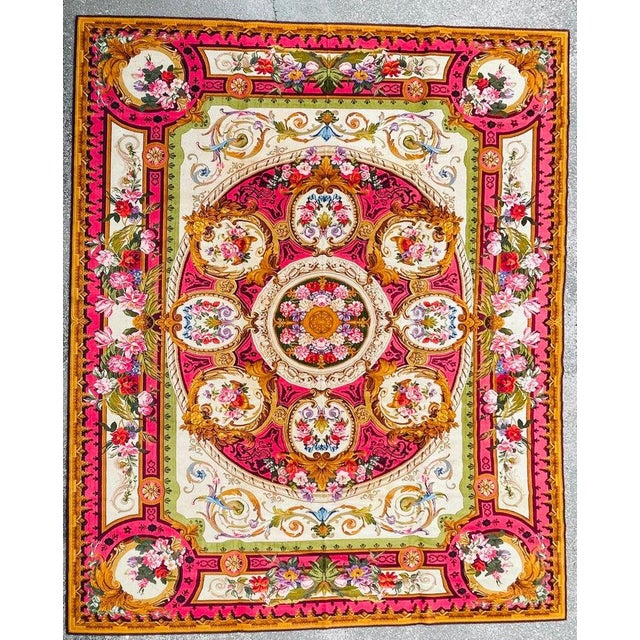 English 1920's Antique English Chenille Rug 12 by 15 For Sale - Image 3 of 10