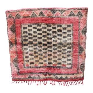 1980s Vintage Moroccan Beni M'rirt Rug For Sale