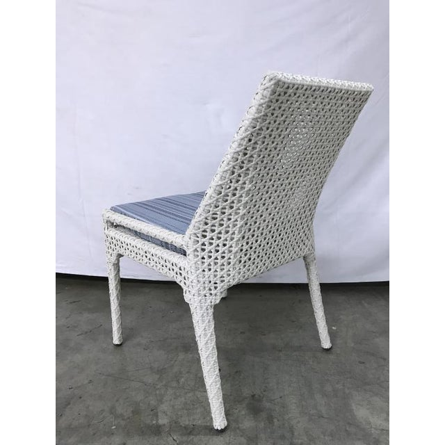 Transitional Century Furniture Outdoor Tangier Dining Side Chair For Sale - Image 3 of 4
