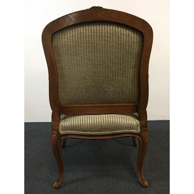 B&B Interiors Carved Walnut Armchair For Sale - Image 5 of 8