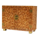 Image of Henredon Faux-Tortoise Cabinet For Sale