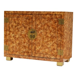 Henredon Faux-Tortoise Cabinet For Sale