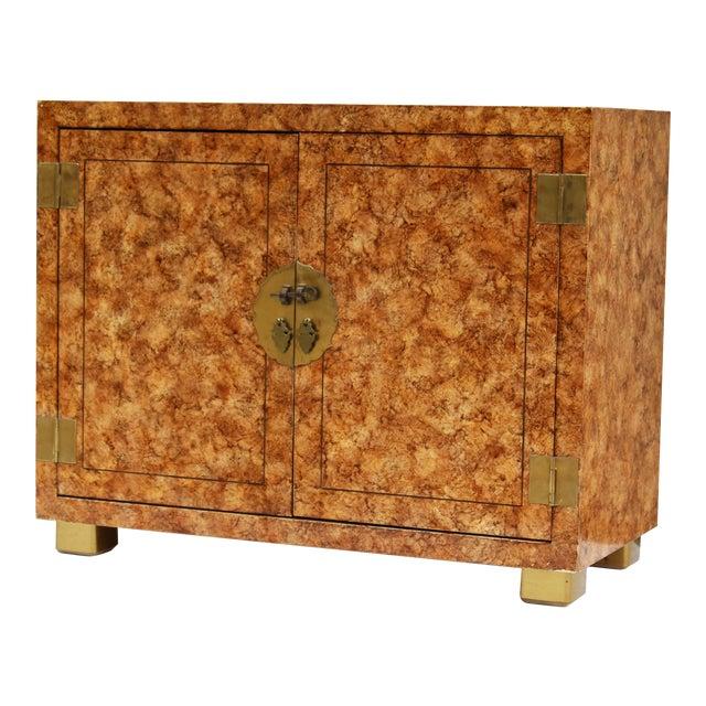Henredon Faux-Tortoise Cabinet For Sale