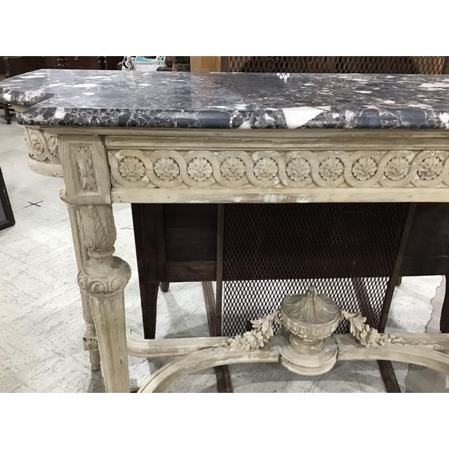 Wood 19th Century Louis XVI Style Console Table For Sale - Image 7 of 12