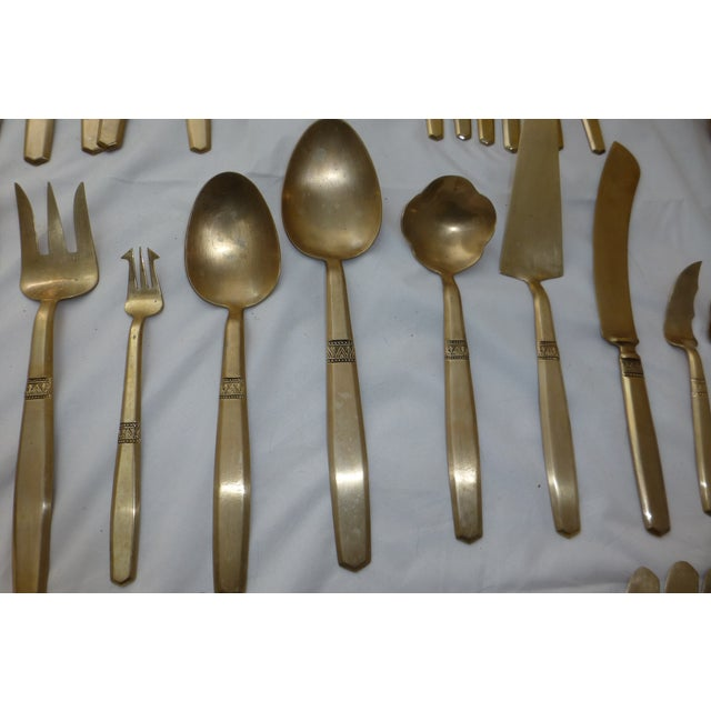 Mid-Century Modern Flatware Service for 12 - Image 5 of 11