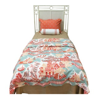 Red Egg Headboard for a Twin Bed For Sale