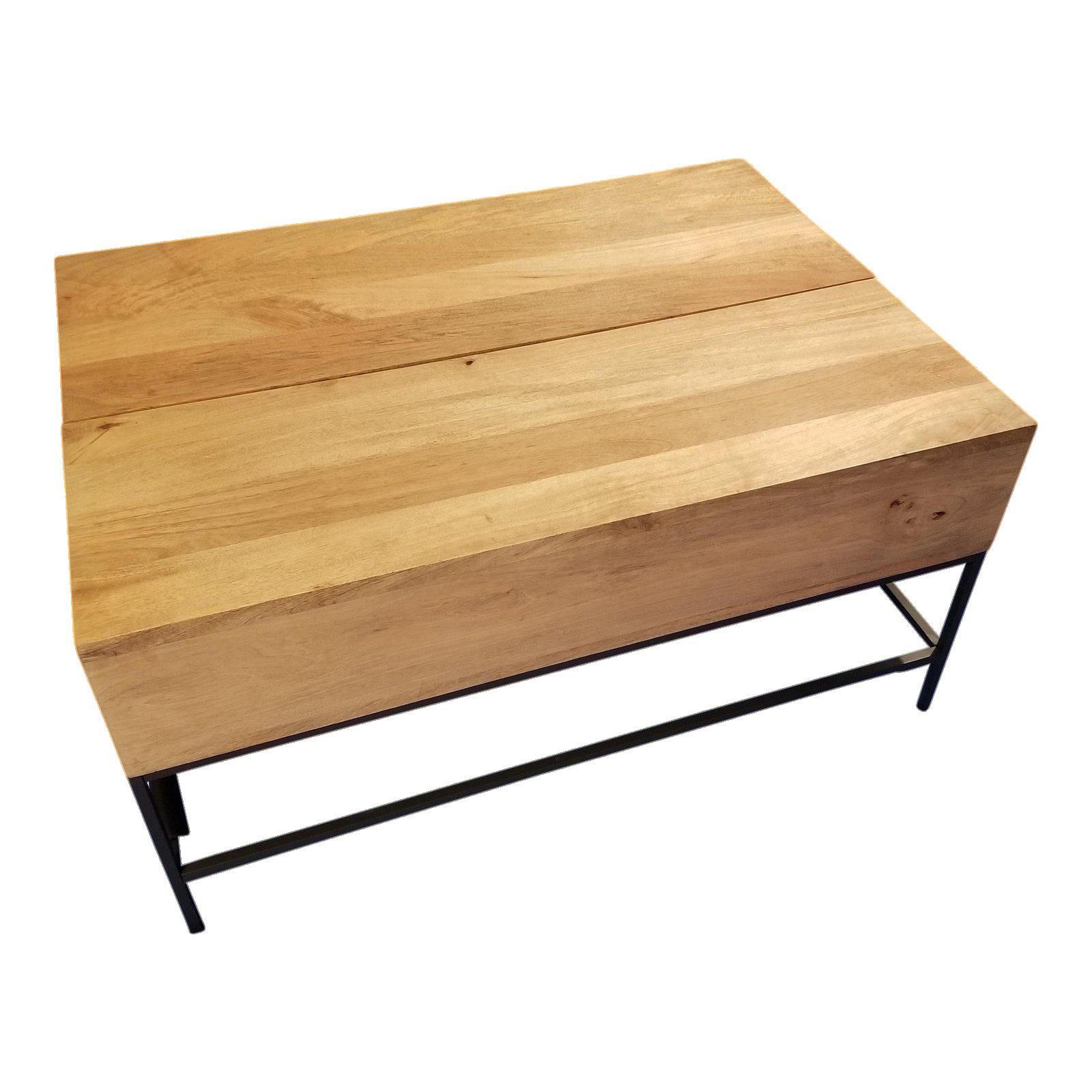 West Elm Industrial Raw Mango Storage Coffee Table