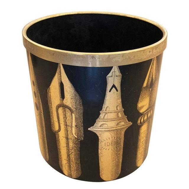 "Piero Fornasetti Piero Fornasetti ""Pennini"" Bin For Sale - Image 4 of 7"