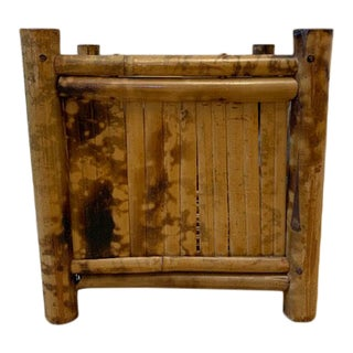 Burnt Bamboo Square Planter For Sale