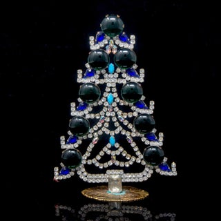 Vintage Czech Crystal and Rhinestone Mantle Christmas Tree Preview