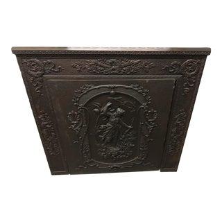 1901 Antique Cast Iron/Bronze Fireplace Screen