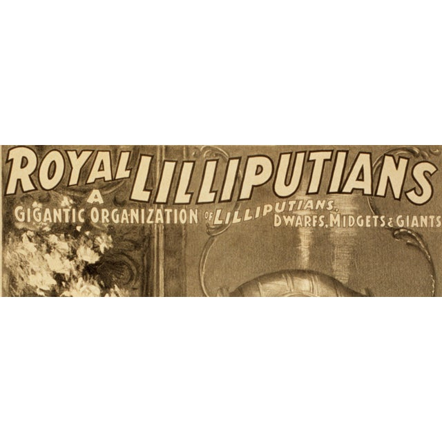 """Royal Lilliputians"" Reproduction 1800s Vaudeville Poster Print - Image 4 of 5"