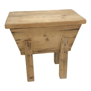 Early 20th Century Rustic French Dough Box For Sale