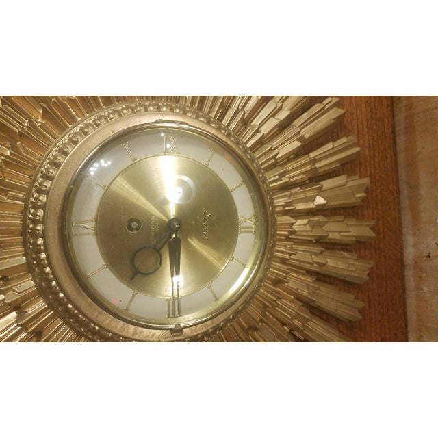 MCM Syroco gold 8 Day Jeweled Key wind clock. A very cool wall accent!
