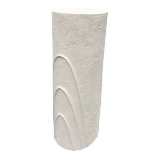 Concentric Oval Sculptural Plaster Pedestal