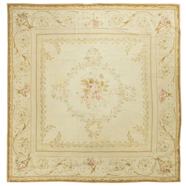 Traditional Antique Hand Woven Rug 7′10 × 8′5 For Sale