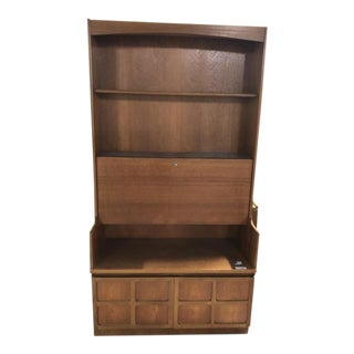 Vintage Mid Century Nathan Tall Cabinet With Drop Front For Sale