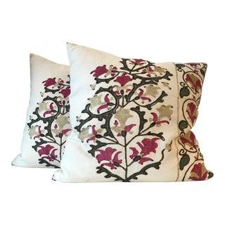 Modern Penny Morrison Vilas Pillows- A Pair For Sale
