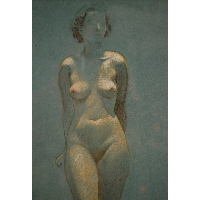 Admire the beauty of the female figure with this stunning pastel on paper by Victor Coleman Anderson. It depicts two nude...