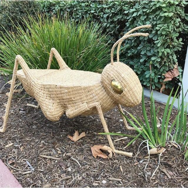 Mario Lopez Torres Folk Art Mario Lopez Torres Jumbo Cricket Side Table For Sale - Image 4 of 9