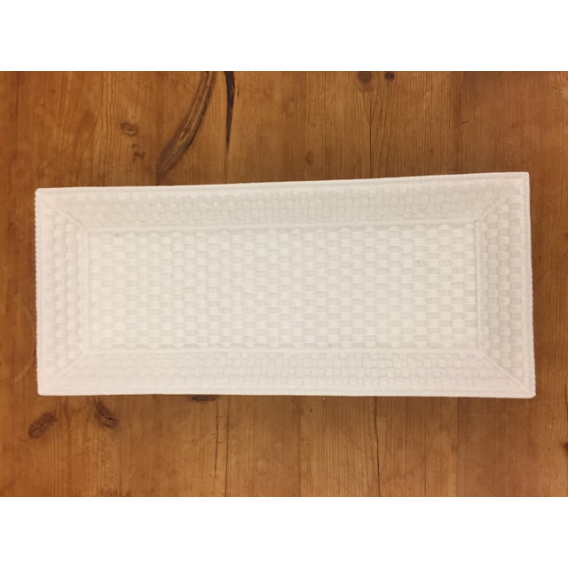 Tiffany and Co. Tiffany & Co. Weave Bone China Tray For Sale - Image 4 of 5