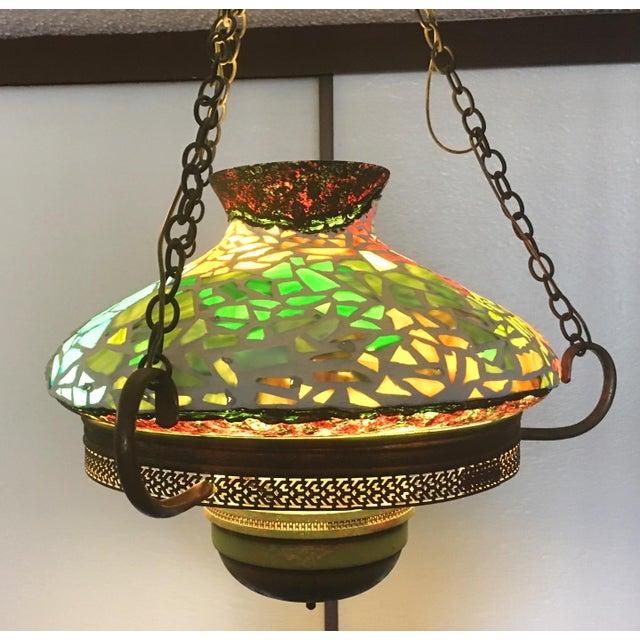Vintage 1940s Mosaic Ceiling Lamp - Image 2 of 10