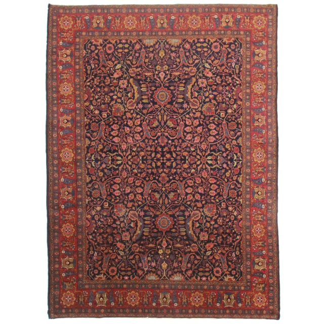 Hand Knotted Turkish Sparta Rug - 9′6″ × 13′1″ For Sale