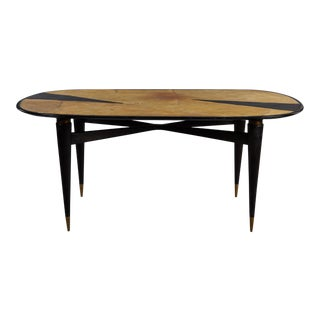 An Oval Graphic Resin Dining Table For Sale