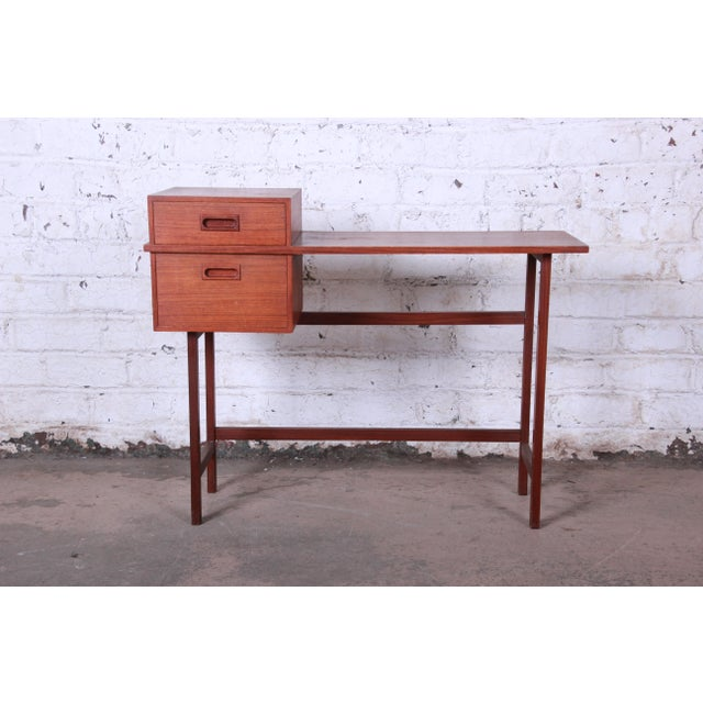 Offering a beautiful and unique mid-century modern vanity desk or console table. The desk was made in Sweden circa 1950 by...