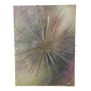 Starburst Sculptural Painting by Heather Johnston For Sale