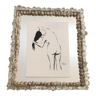 Tramp Art Shell Nude Wall Decor, Degas