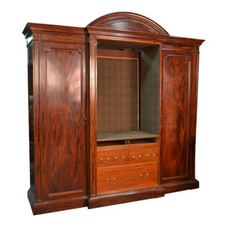 Arched Mahogany Armoire For Sale